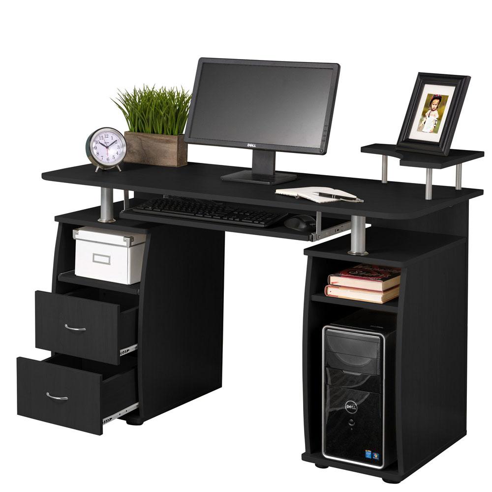 computer desk pc laptop table workstation home office. Black Bedroom Furniture Sets. Home Design Ideas