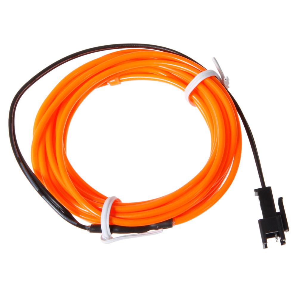 2x orange flexible neon light 3m glow el wire led strip tube car dance party hk ebay. Black Bedroom Furniture Sets. Home Design Ideas