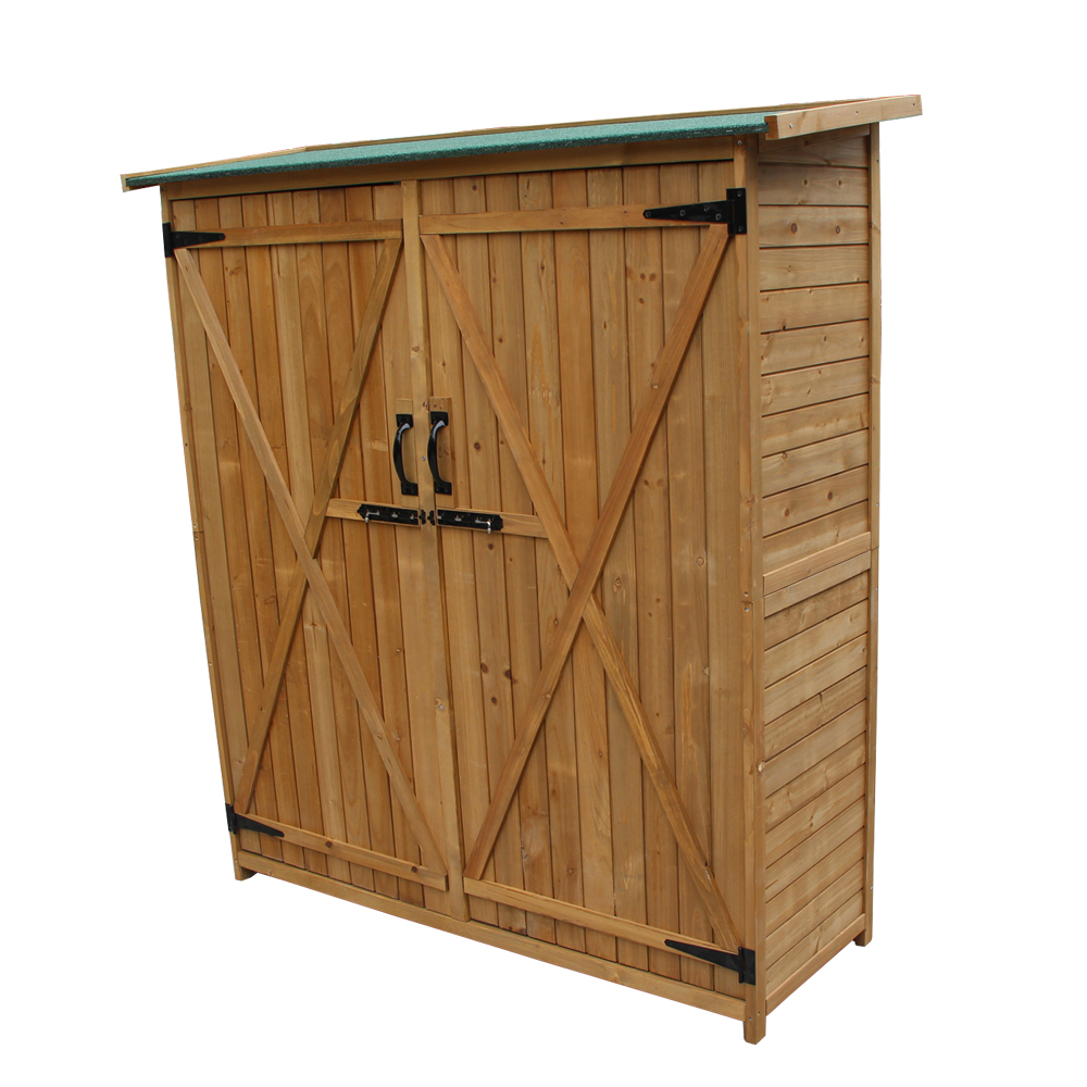 Incredible Details About Wood Outdoor Wooden Storage Shed Tool Organize Homer Yard Garden W Stool Beatyapartments Chair Design Images Beatyapartmentscom