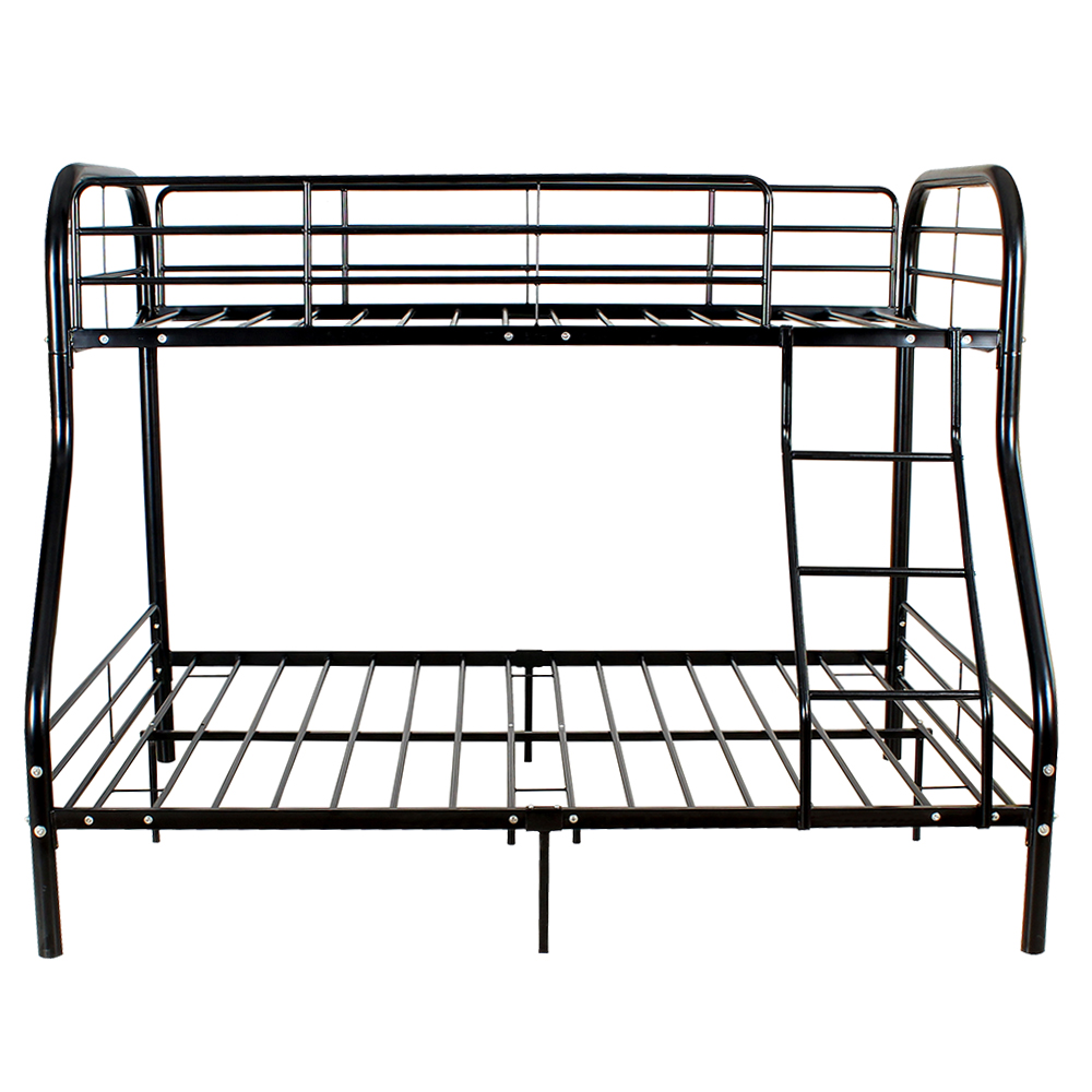 Metal Bunk Beds Frame 250lbs Load Twin Over Full Size Ladder Kid