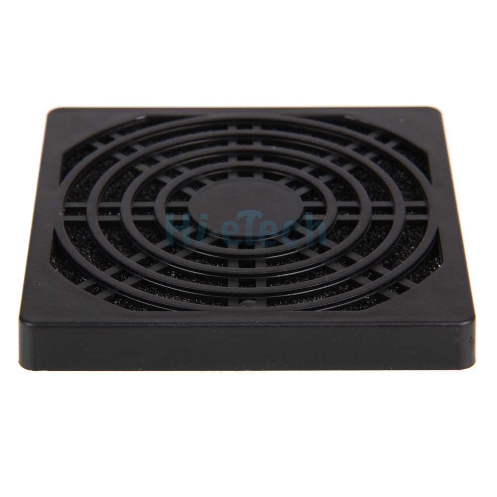 durable 80mm dust air filter for pc computer desktop cooling fan black dustproof. Black Bedroom Furniture Sets. Home Design Ideas
