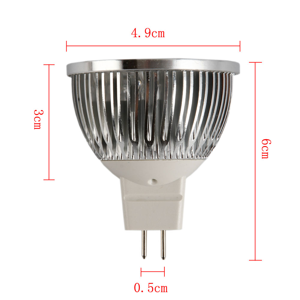 ultra bright 4w mr16 12v 360lm led spot light lamp pure white energy saving ebay. Black Bedroom Furniture Sets. Home Design Ideas