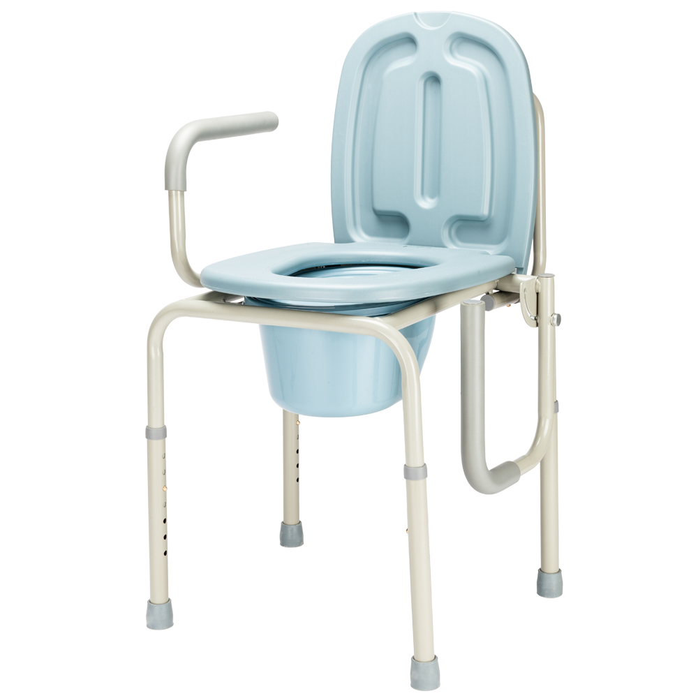 Heavy Duty Commode Medical Bedside Toilet And Shower Bench