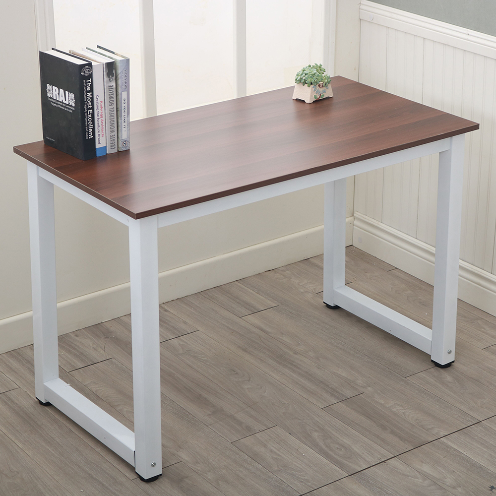 Charmant Details About Modern Computer Desk PC Workstation Study Table Home Office  Brown