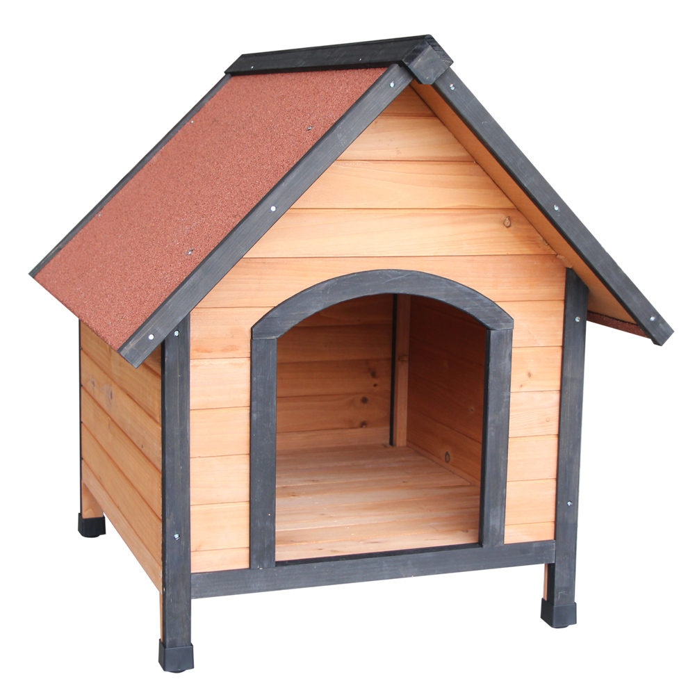 31small Dog House Pet Outdoor Bed Wood Shelter Home Weather Kennel