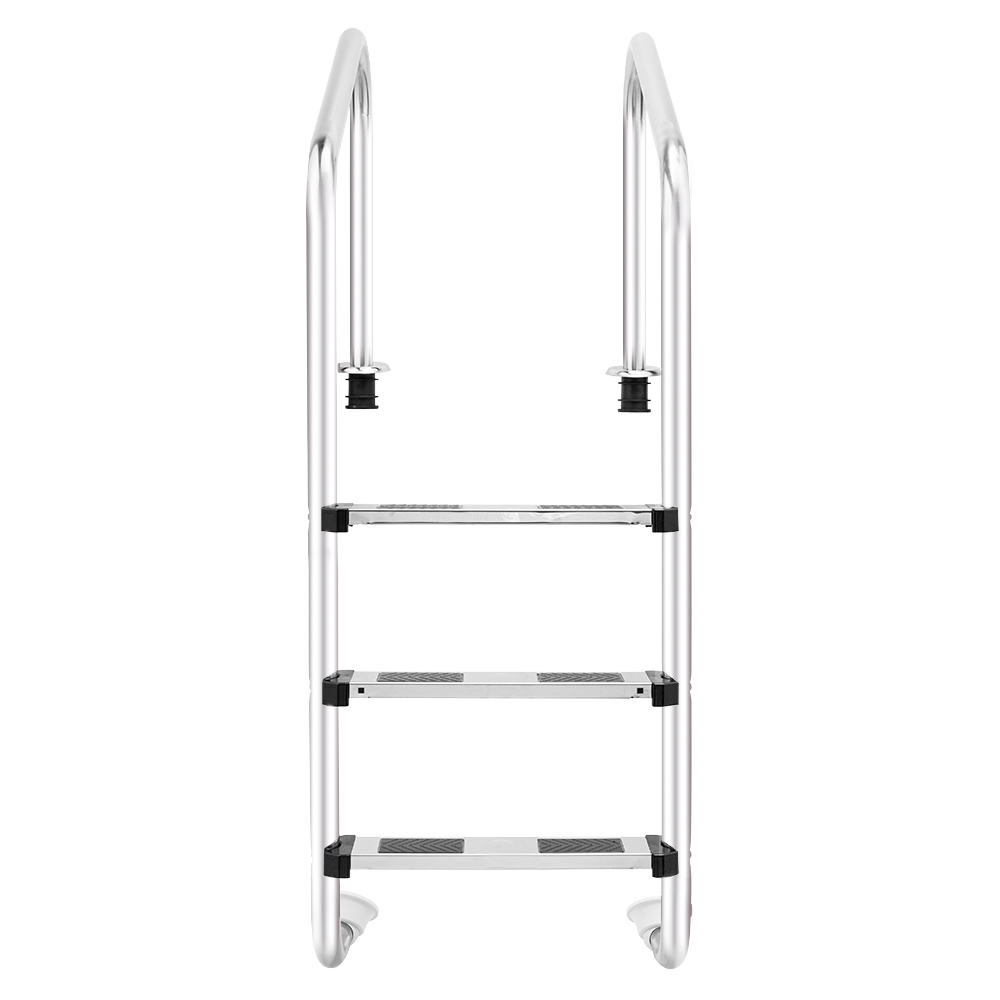 Details about 3-Step Polished Stainless Steel Swimming Pool Ladder For  Inground Pools /w Legs
