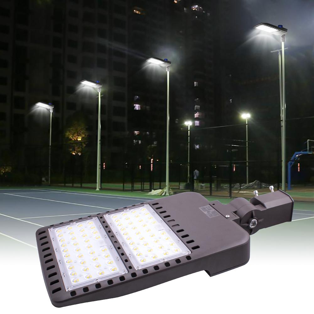 Details About 150w 288 Led Parking Lot Shoebox Street Light Outdoor Ip65 Lamp 5500k Fixture