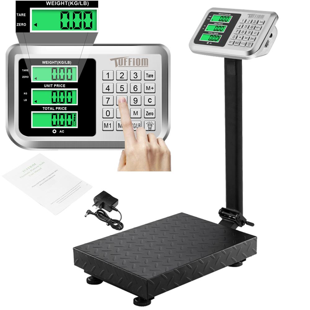 220lb Digital Floor Platform Postal Scale Price Computing KG LB 100kg