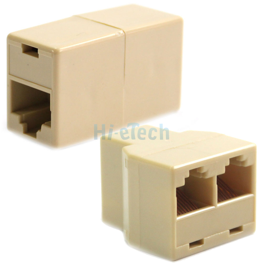 rj45 cat5 6 lan ethernet splitter adapter   extender