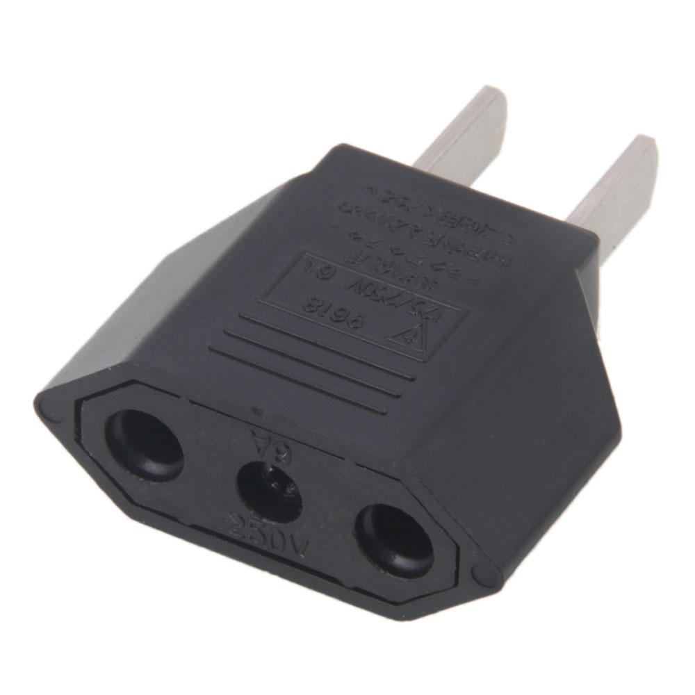 new eu euro to us usa power converter adapter adaptor. Black Bedroom Furniture Sets. Home Design Ideas