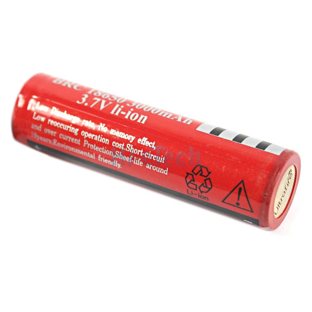 2pcs brc 18650 3 7v rechargeable batteries for led torch flashlight ebay. Black Bedroom Furniture Sets. Home Design Ideas